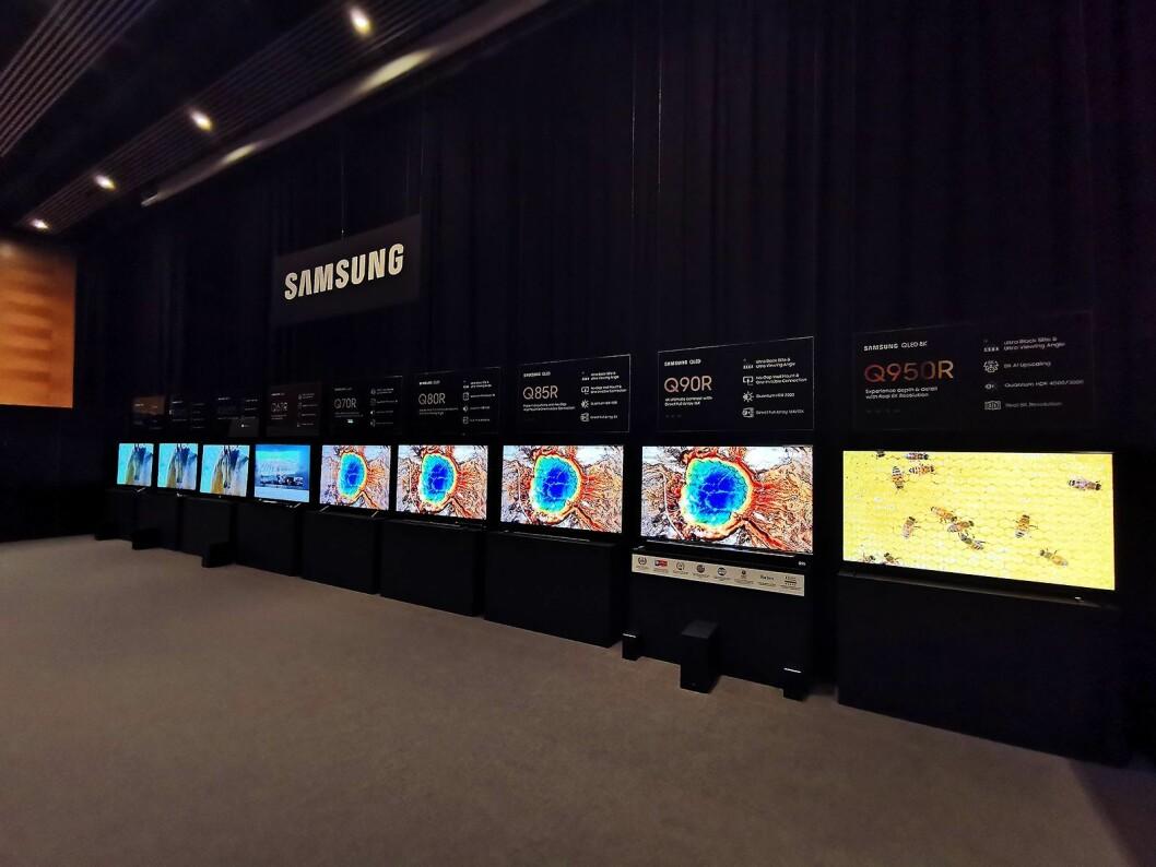 Samsung slo på stortromma, og viste under opplæringsmessen Campus Tech hele porteføljen Elkjøp har tatt inn. Foto: Stian Sønsteng.