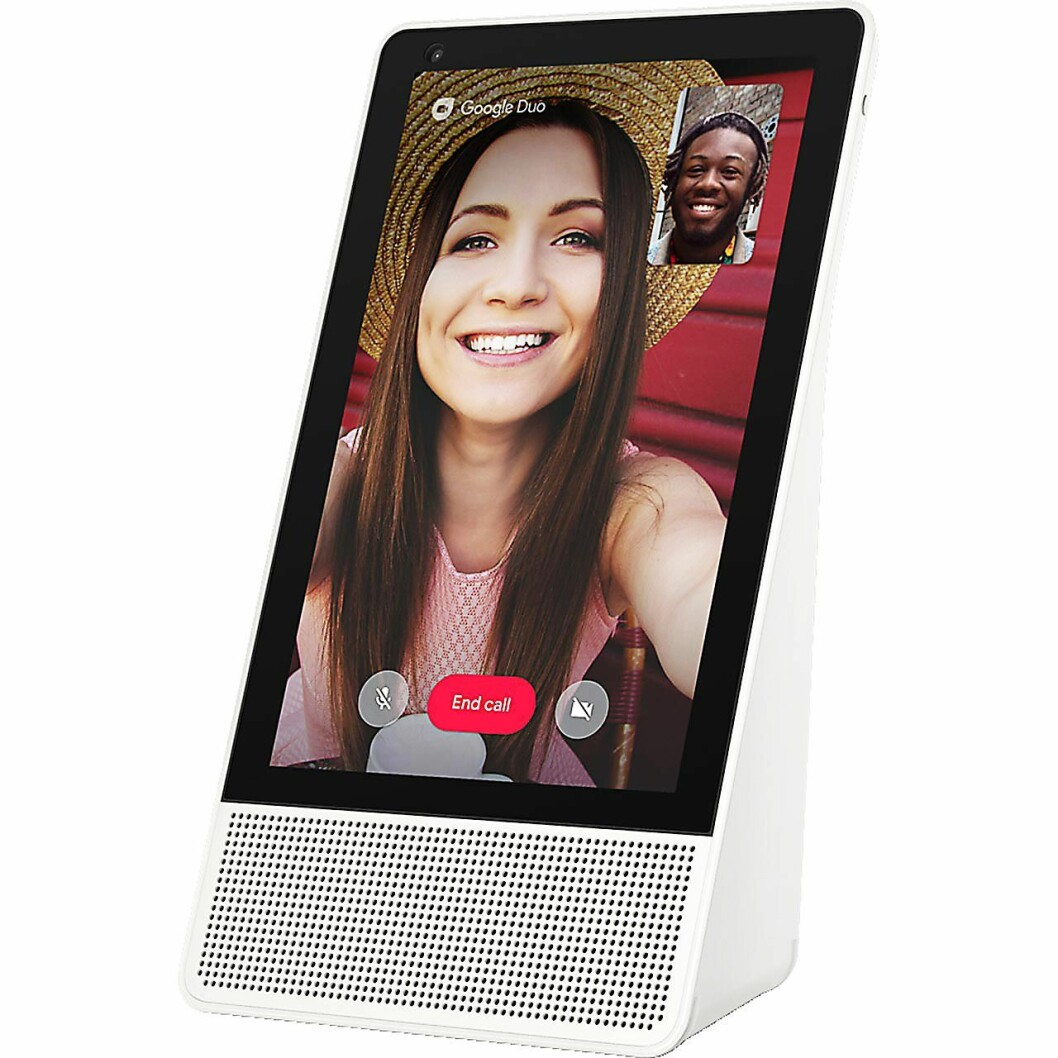Du kan også ta videosamtaler via Google Duo med Smart Display. Foto: Lenovo.