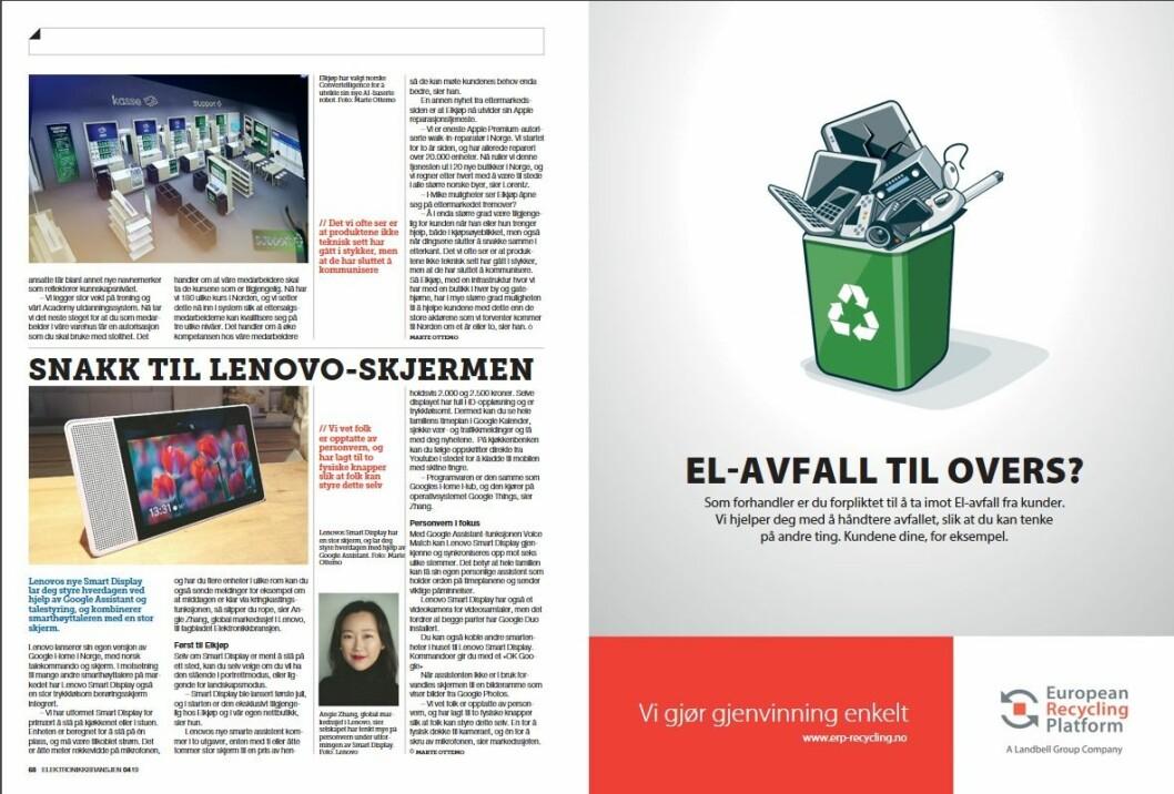 """Artikkelen ble første gang publisert i papirutgaven av fagbladet Elektronikkbransjen nr. 4/2019, som ble distribuert 28. august. <a href=""""http://www.mypaper.se/html5/customer/248/12568/?page=68"""" target=""""_blank"""" rel=""""noopener"""">Her kan du lese artikkelen</a> og bla gjennom digitalutgaven av bladet. Du kan lese alle utgaver av bladet digitalt, fra og med nr. 1/1937, på <a href=""""https://www.elektronikkbransjen.no/historiskarkiv"""" target=""""_blank"""" rel=""""noopener"""">elektronikkbransjen.no/historiskarkiv</a>."""