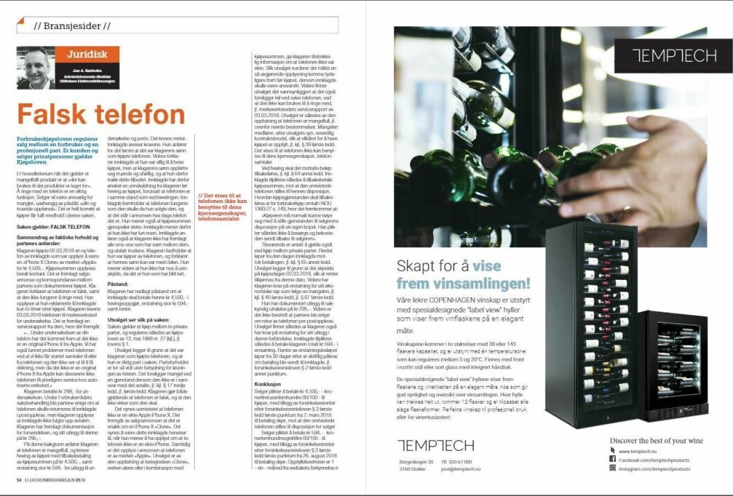 """Artikkelen ble første gang publisert i papirutgaven av fagbladet Elektronikkbransjen nr. 5/2019, som ble distribuert 9. oktober. <a href=""""http://www.mypaper.se/html5/customer/248/12614/?page=54"""" target=""""_blank"""" rel=""""noopener"""">Her kan du lese artikkelen</a> og bla gjennom digitalutgaven av bladet. Du kan lese alle utgaver av bladet digitalt, fra og med nr. 1/1937, på <a href=""""https://www.elektronikkbransjen.no/historiskarkiv"""" target=""""_blank"""" rel=""""noopener"""">elektronikkbransjen.no/historiskarkiv</a>."""