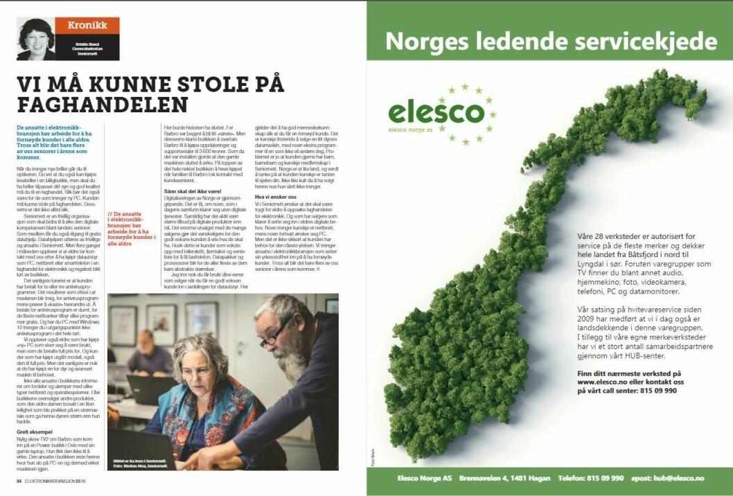 """Artikkelen ble første gang publisert i papirutgaven av fagbladet Elektronikkbransjen nr. 5/2019, som ble distribuert 9. oktober. <a href=""""http://www.mypaper.se/html5/customer/248/12614/?page=94"""" target=""""_blank"""" rel=""""noopener"""">Her kan du lese artikkelen</a> og bla gjennom digitalutgaven av bladet. Du kan lese alle utgaver av bladet digitalt, fra og med nr. 1/1937, på <a href=""""https://www.elektronikkbransjen.no/historiskarkiv"""" target=""""_blank"""" rel=""""noopener"""">elektronikkbransjen.no/historiskarkiv</a>."""