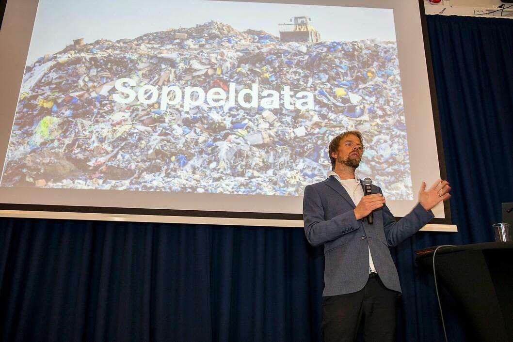 Produktsjef i WasteIQ, Anders Waage Nilsen, tror teknologi kan gjøre avfallshåndteringen enda bedre. Foto: Norsirk/Simen Berg.