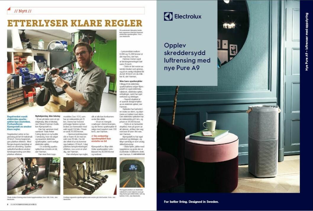 """Artikkelen ble første gang publisert i papirutgaven av fagbladet Elektronikkbransjen nr. 5/2019, som ble distribuert 9. oktober. <a href=""""http://www.mypaper.se/html5/customer/248/12614/?page=8"""" target=""""_blank"""" rel=""""noopener"""">Her kan du lese artikkelen</a> og bla gjennom digitalutgaven av bladet. Du kan lese alle utgaver av bladet digitalt, fra og med nr. 1/1937, på <a href=""""https://www.elektronikkbransjen.no/historiskarkiv"""" target=""""_blank"""" rel=""""noopener"""">elektronikkbransjen.no/historiskarkiv</a>."""
