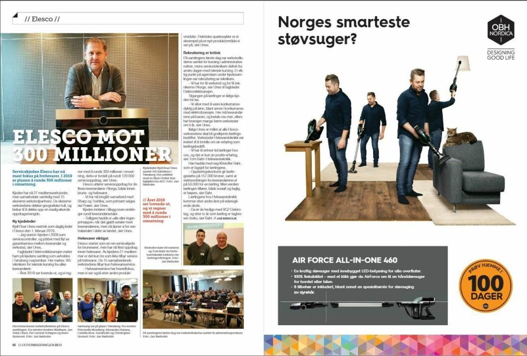 """Artikkelen ble første gang publisert i papirutgaven av fagbladet Elektronikkbransjen nr. 5/2019, som ble distribuert 9. oktober. <a href=""""http://www.mypaper.se/html5/customer/248/12614/?page=92"""" target=""""_blank"""" rel=""""noopener"""">Her kan du lese artikkelen</a> og bla gjennom digitalutgaven av bladet. Du kan lese alle utgaver av bladet digitalt, fra og med nr. 1/1937, på <a href=""""https://www.elektronikkbransjen.no/historiskarkiv"""" target=""""_blank"""" rel=""""noopener"""">elektronikkbransjen.no/historiskarkiv</a>."""