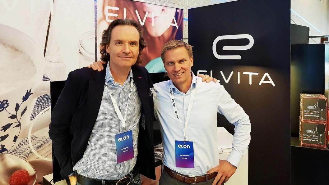 Elons konsernsjef Stefan Lebrot (til venstre) og kjedeleder Asle Bjerkebakke ser positivt på fremtiden. Foto: Jan Røsholm