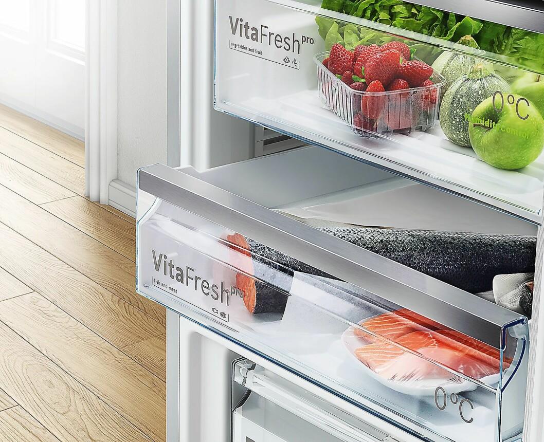 VitaFresh-konseptet skal øke holdbarheten på matvarene og hjelpe folk å kaste mindre mat. Foto: BSH.