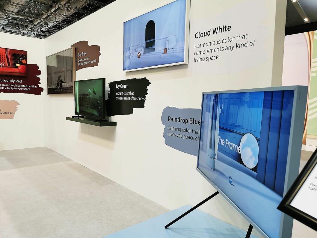 Samsung The Frame er nå ute i fjerde generasjon, har samme qled-skjerm og innmat som Q60-serien, og kommer i 43, 49, 55 og 65 tommer. Foto: Stian Sønsteng.
