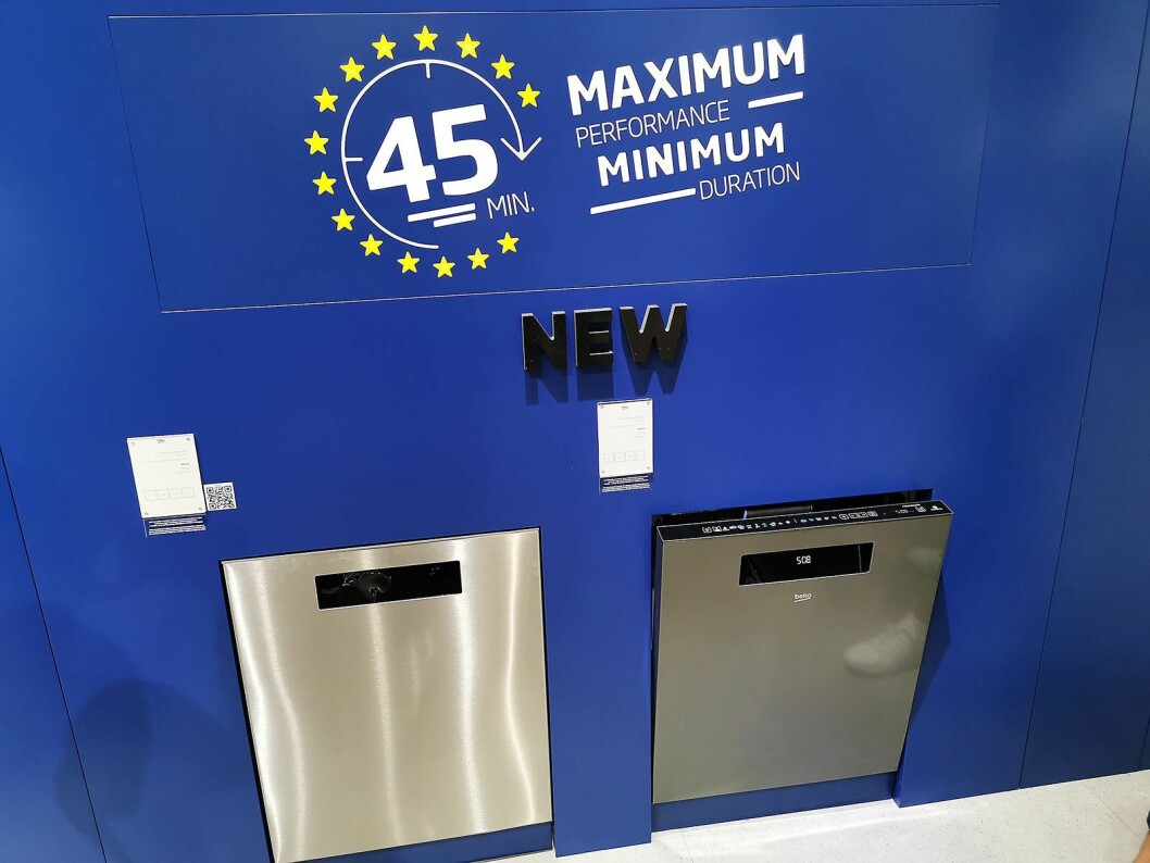 Bekos nye oppvaskmaskiner har et hurtigprogram som vasker og tørker på 45 minutter. Foto: Stian Sønsteng.