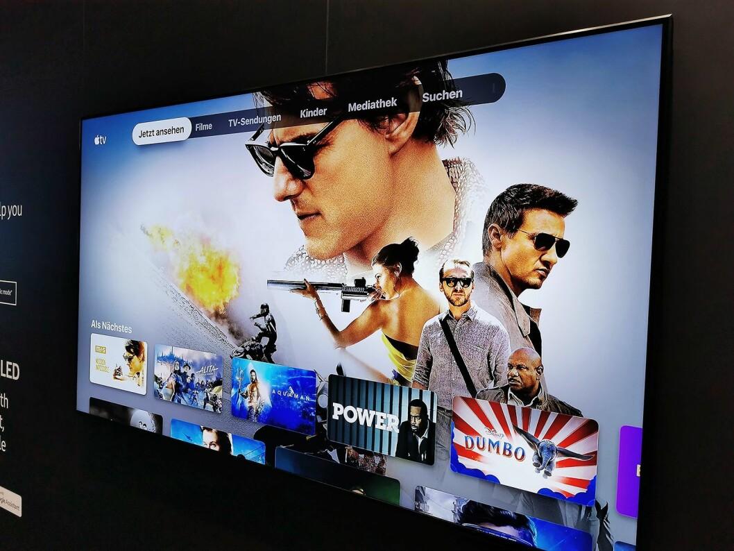 Apple TV-appen og AirPlay 2 er tilgjengelig i alle Samsungs 2018- og 2019-modeller. Foto: Stian Sønsteng.