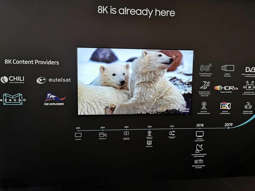 Hos Samsung er 8K allerede her. Foto: Stian Sønsteng.