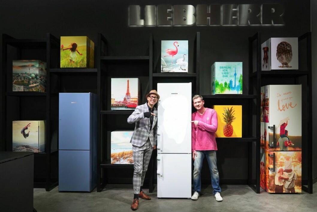 Du kan designe både kombi- og minikjøleskap i Liebherrs MyDesign-serie. Foto: Messe Berlin.