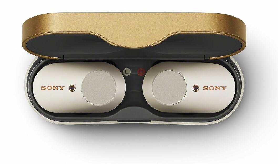 De helt trådløse øreproppene Sony WF-1000XM3 med aktiv støyreduksjon. Pris: 2.600,- Foto: Sony.