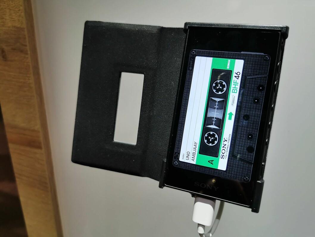 Sony Walkman feirer 40 år i år, med denne jubileumsmodellen. Den kommer ikke for salg i Norden. Foto: Stian Sønsteng.
