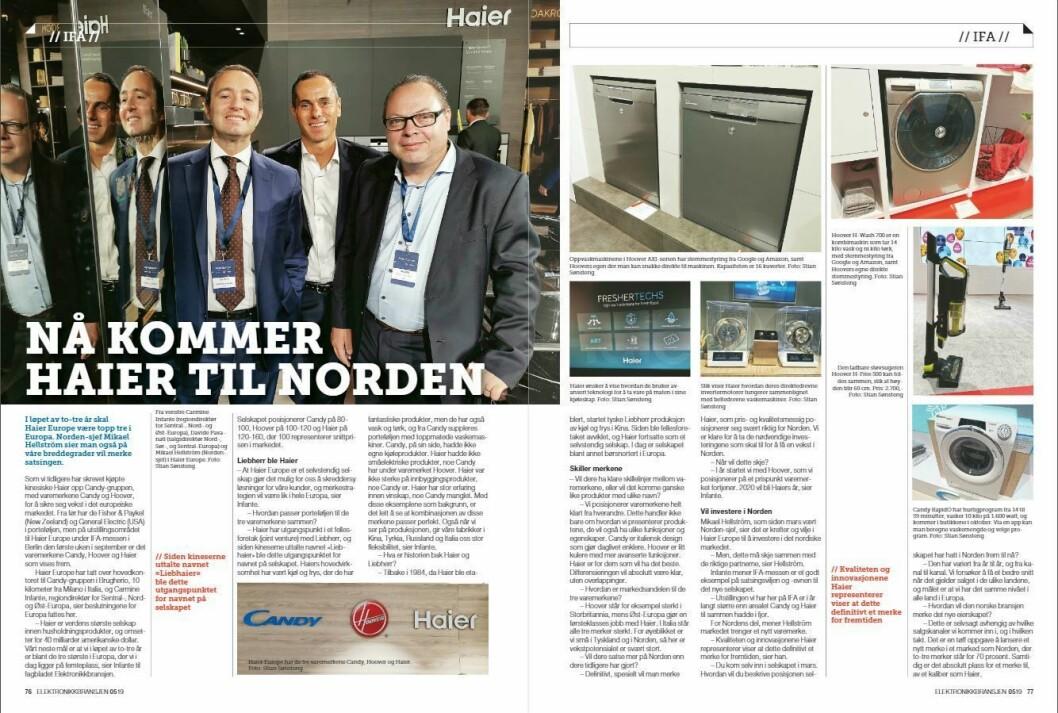 """Artikkelen ble første gang publisert i papirutgaven av fagbladet Elektronikkbransjen nr. 5/2019, som ble distribuert 9. oktober. <a href=""""http://www.mypaper.se/html5/customer/248/12614/?page=76"""" target=""""_blank"""" rel=""""noopener"""">Her kan du lese artikkelen</a> og bla gjennom digitalutgaven av bladet. Du kan lese alle utgaver av bladet digitalt, fra og med nr. 1/1937, på <a href=""""https://www.elektronikkbransjen.no/historiskarkiv"""" target=""""_blank"""" rel=""""noopener"""">elektronikkbransjen.no/historiskarkiv</a>."""