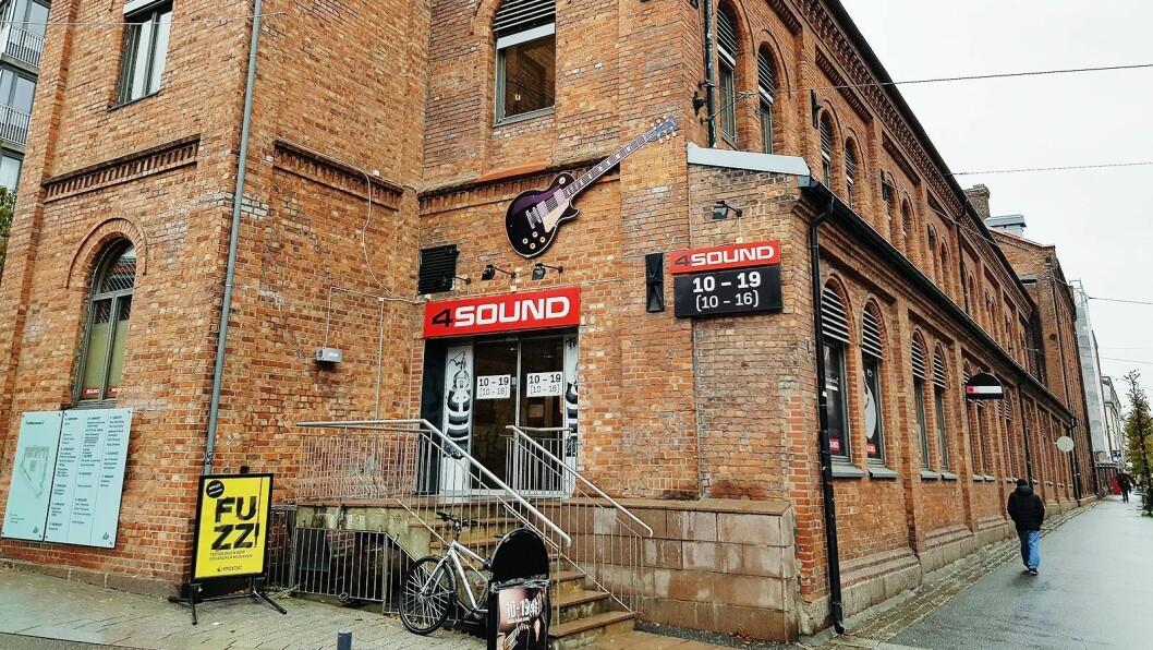 4Sounds butikk på Schous plass i Oslo. Foto: Jan Røsholm