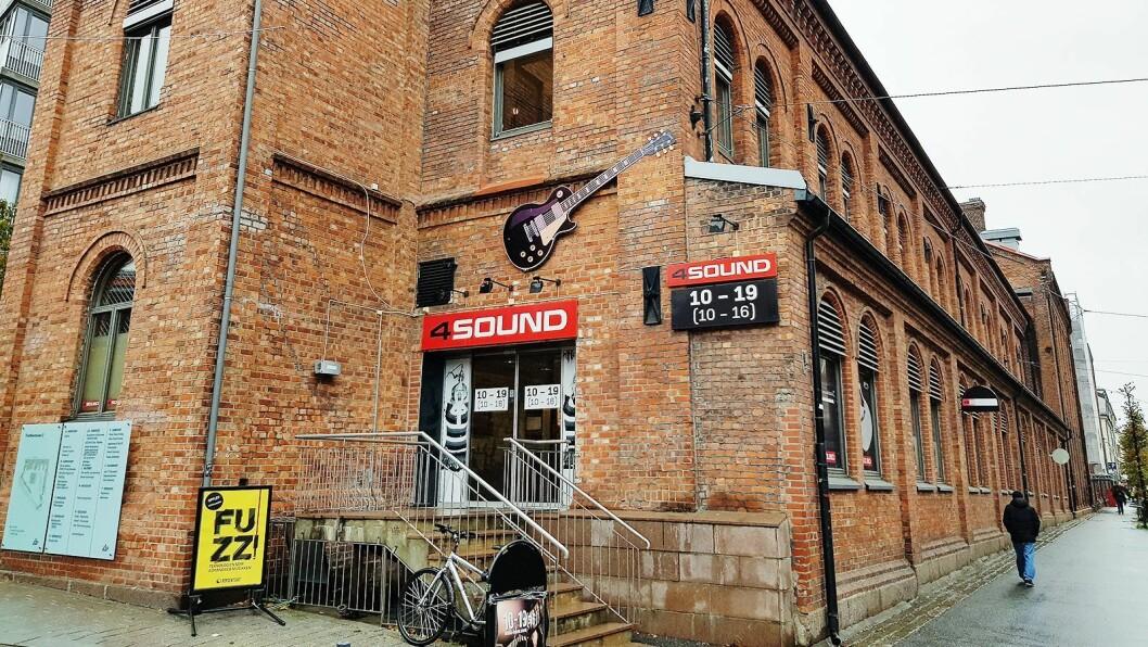 4Sound-butikken på Schous plass i Oslo åpner igjen i morgen. Foto: Jan Røsholm