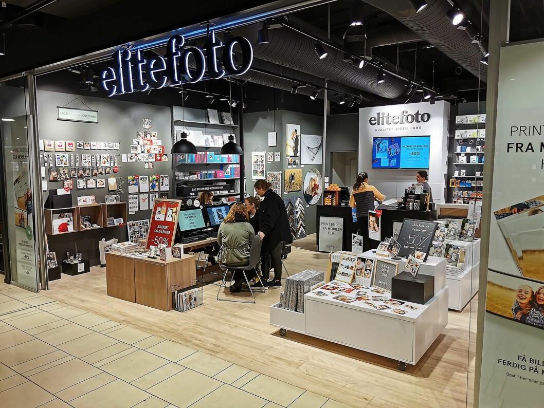 Elite Fotos butikk i Sandvika storsenter. Foto: Stian Sønsteng.