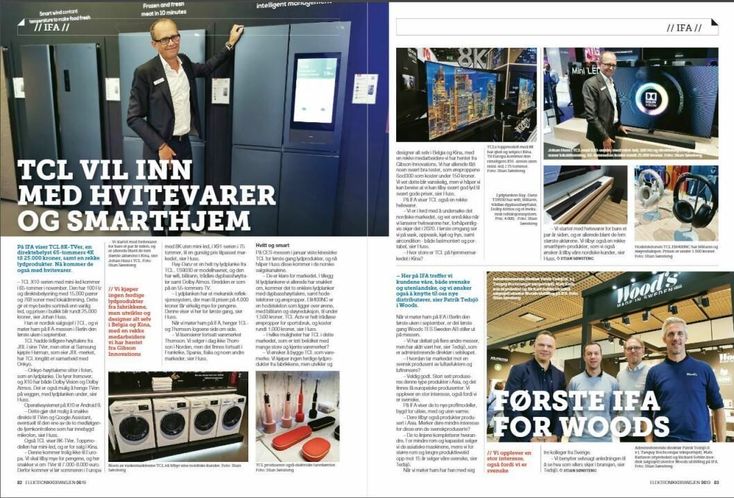 """Artikkelen ble første gang publisert i papirutgaven av fagbladet Elektronikkbransjen nr. 6/2019, som ble distribuert 20. november. <a href=""""http://www.mypaper.se/html5/customer/248/12666/?page=82"""" target=""""_blank"""" rel=""""noopener"""">Her kan du lese artikkelen</a> og bla gjennom digitalutgaven av bladet. Du kan lese alle utgaver av bladet digitalt, fra og med nr. 1/1937, på <a href=""""https://www.elektronikkbransjen.no/historiskarkiv"""" target=""""_blank"""" rel=""""noopener"""">elektronikkbransjen.no/historiskarkiv</a>."""