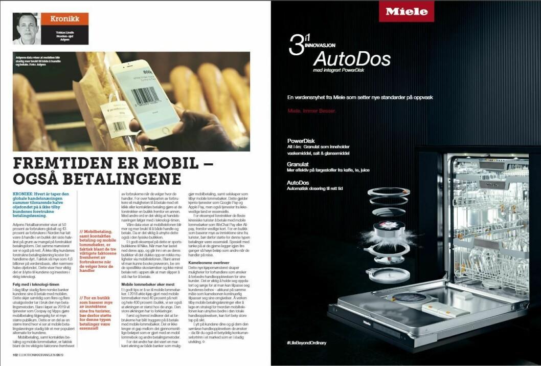 """Artikkelen ble første gang publisert i papirutgaven av fagbladet Elektronikkbransjen nr. 6/2019, som ble distribuert 20. november. <a href=""""http://www.mypaper.se/html5/customer/248/12666/?page=102"""" target=""""_blank"""" rel=""""noopener"""">Her kan du lese artikkelen</a> og bla gjennom digitalutgaven av bladet. Du kan lese alle utgaver av bladet digitalt, fra og med nr. 1/1937, på <a href=""""https://www.elektronikkbransjen.no/historiskarkiv"""" target=""""_blank"""" rel=""""noopener"""">elektronikkbransjen.no/historiskarkiv</a>."""