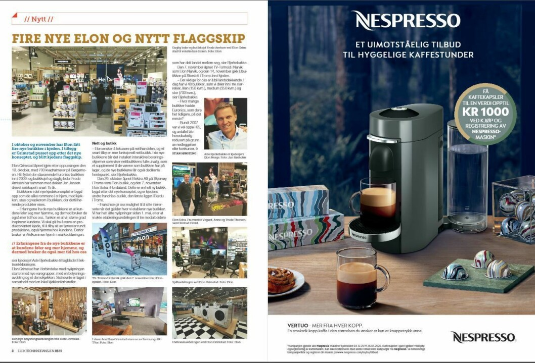 """Artikkelen ble første gang publisert i papirutgaven av fagbladet Elektronikkbransjen nr. 6/2019, som ble distribuert 20. november. <a href=""""http://www.mypaper.se/html5/customer/248/12666/?page=8"""" target=""""_blank"""" rel=""""noopener"""">Her kan du lese artikkelen</a> og bla gjennom digitalutgaven av bladet. Du kan lese alle utgaver av bladet digitalt, fra og med nr. 1/1937, på <a href=""""https://www.elektronikkbransjen.no/historiskarkiv"""" target=""""_blank"""" rel=""""noopener"""">elektronikkbransjen.no/historiskarkiv</a>."""