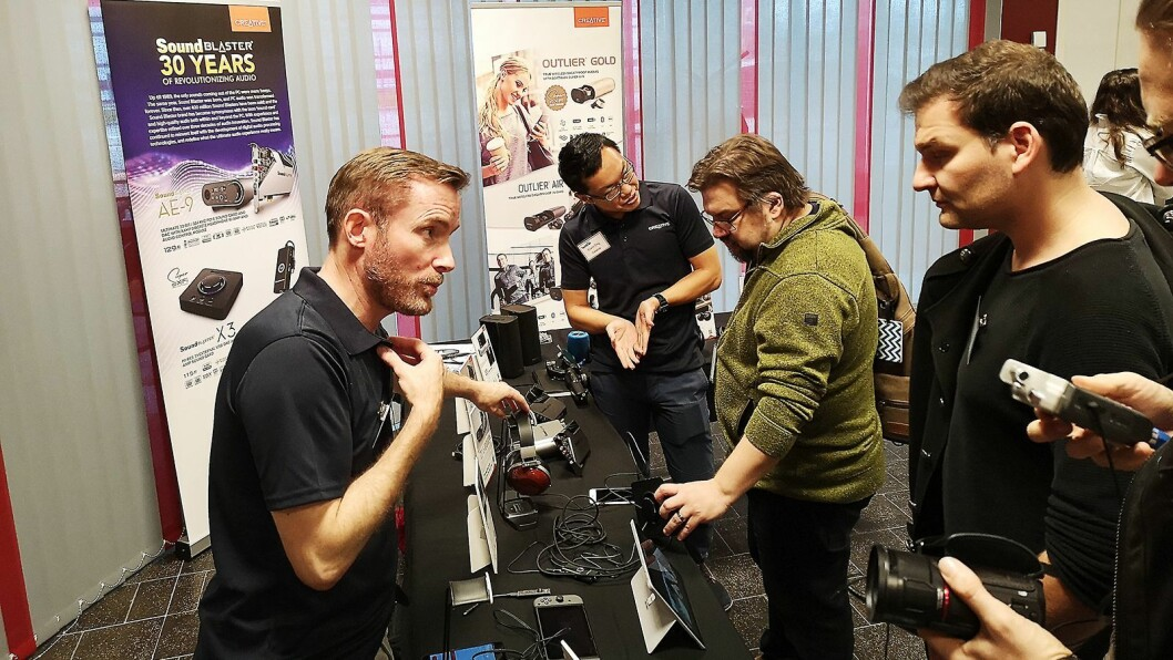 Minimessen Techbrief samler forbrukerelektronikk-selskaper og tek-journalister fra hele Norden. Foto: Marte Ottemo