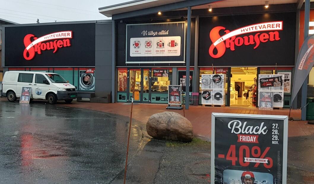 Slik så det ut på Skousens avdeling i Arendal under årets Black Friday. Foto: Skousen
