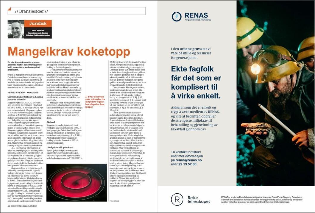 """Artikkelen ble første gang publisert i papirutgaven av fagbladet Elektronikkbransjen nr. 1/2020, som ble distribuert 13. februar. <a href=""""https://www.mypaper.se/html5/customer/248/12757/?page=44"""" target=""""_blank"""" rel=""""noopener"""">Her kan du lese artikkelen</a> og bla gjennom digitalutgaven av bladet. Du kan lese alle utgaver av bladet digitalt, fra og med nr. 1/1937, på <a href=""""https://www.elektronikkbransjen.no/historiskarkiv"""" target=""""_blank"""" rel=""""noopener"""">elektronikkbransjen.no/historiskarkiv</a>."""