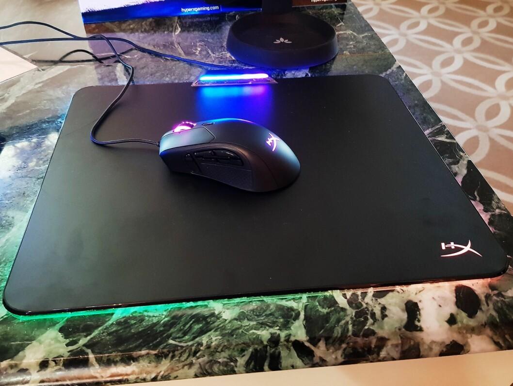 HyperX har nå både en mus og musematte beregnet for spillere. Foto: Jan Røsholm.