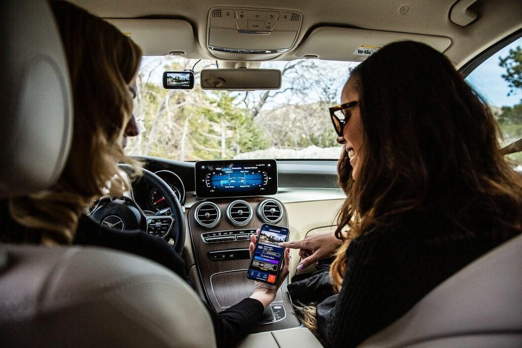 622GW har innebygd stemmestyring med Amzon Alexa og støtte for GPS og wifi. Foto: Nextbase.