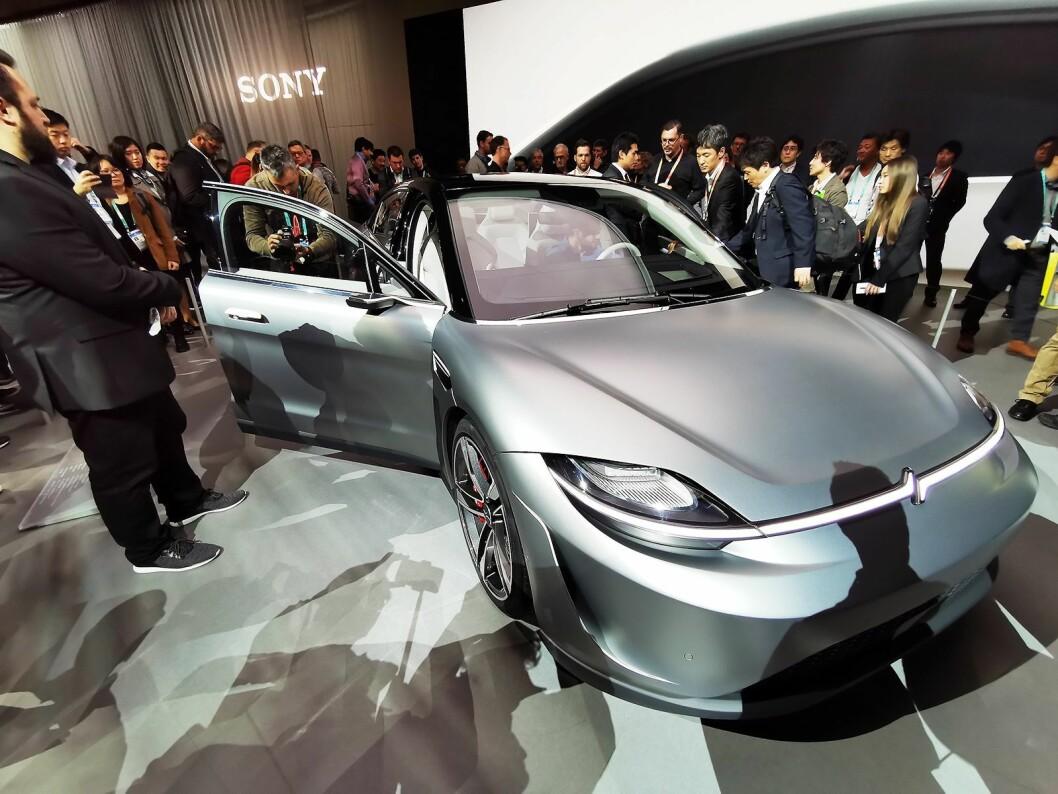 Sony viste på CES frem den elektriske konseptbilen Vision-S. Foto: Stian Sønsteng.