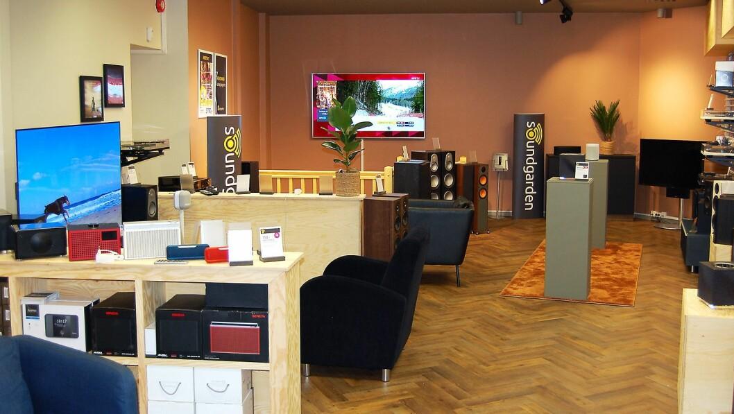 Soundgarden Bergen har kjedens nye butikkonsept. Foto: Soundgarden