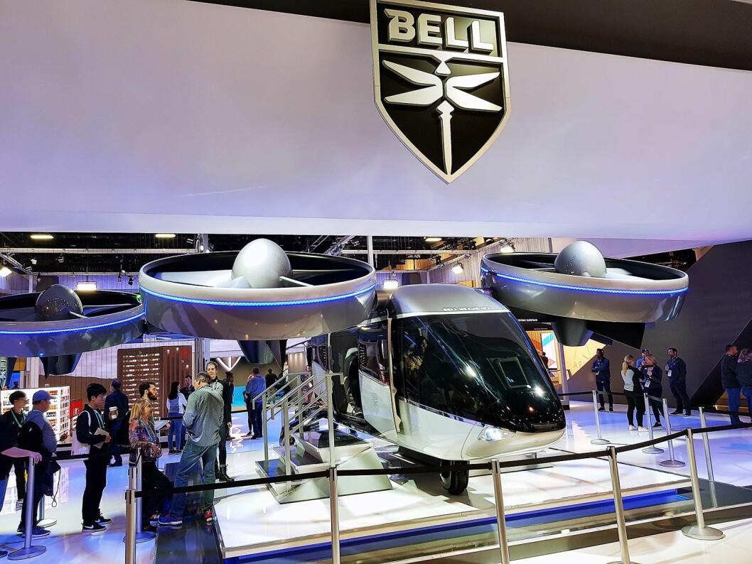 Bell-dronen er utstyrt med vribare propeller. Foto: Jan Røsholm.
