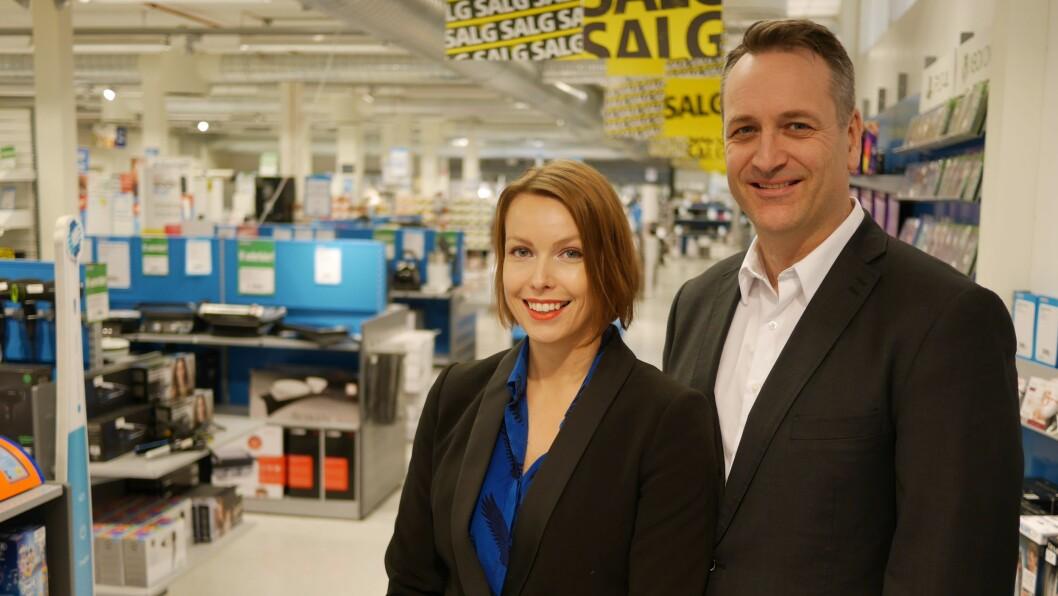 Kommunikasjonssjef Marte Ottemo og administrerende direktør Jan Røsholm kan glede seg over en vekst i bransjen. Foto: Stian Sønsteng.