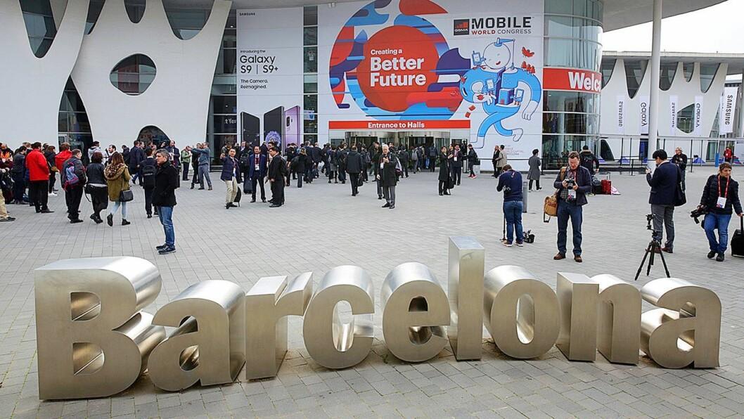 Mobilemessen Mobile World Congress samler hver februar over 100.000 telekom-folk i Barcelona, men i år er messen avlyst på grunn av frykt for det nye koronaviruset 2019-nCoV. Foto: Marte Ottemo