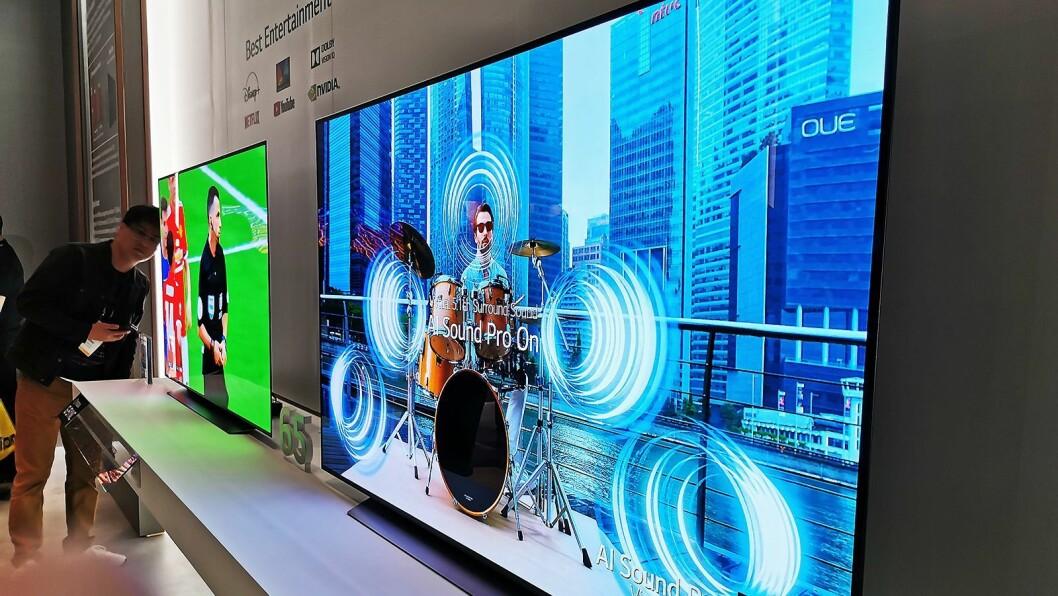 LGs tredje generasjon A9-prosessor kommer fra C-serien og oppover. Her CX, der kunstig intelligens skaper virtuell 5.1-lyd ved å analysere lydsporet. Foto: Stian Sønsteng
