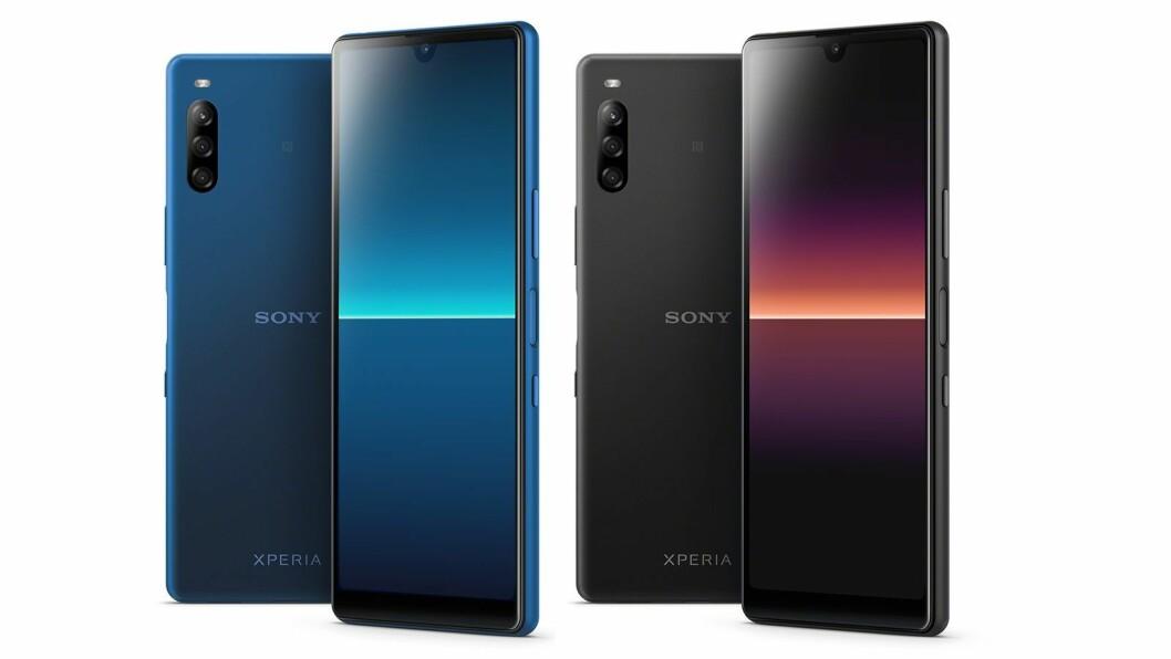 Sony Xperia L4 er den rimeligste modellen i selskapets nyeste lansering, og vil koste rundt 2.000 kroner når den kommer på markedet i april. Foto: Sony.