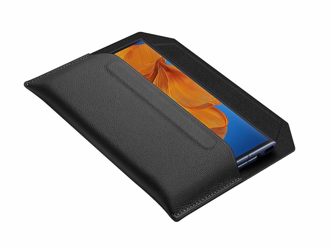 Du kan kjøpe etui for å beskytte MatePaden din, og Huawei har gått for vegansk lær som material. Foto: Huawei.