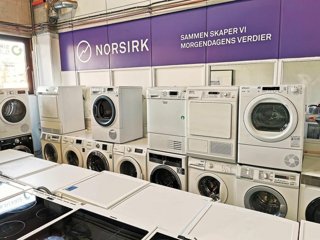 Norsirk leverer hvitevarene som kommer inn til Sirkular Gjenbruk. Foto: Stian Sønsteng.