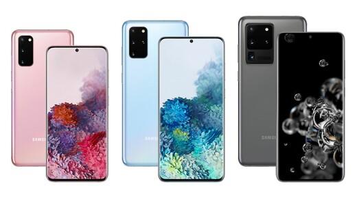 Samsung Galaxy S20, S20+ og S20 Ultra