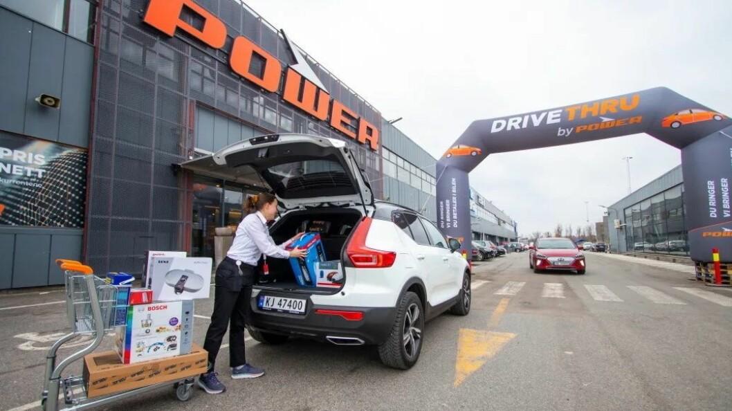 Power merker sin nye klikk-og-hent-løsning med store portaler. Foto: Power
