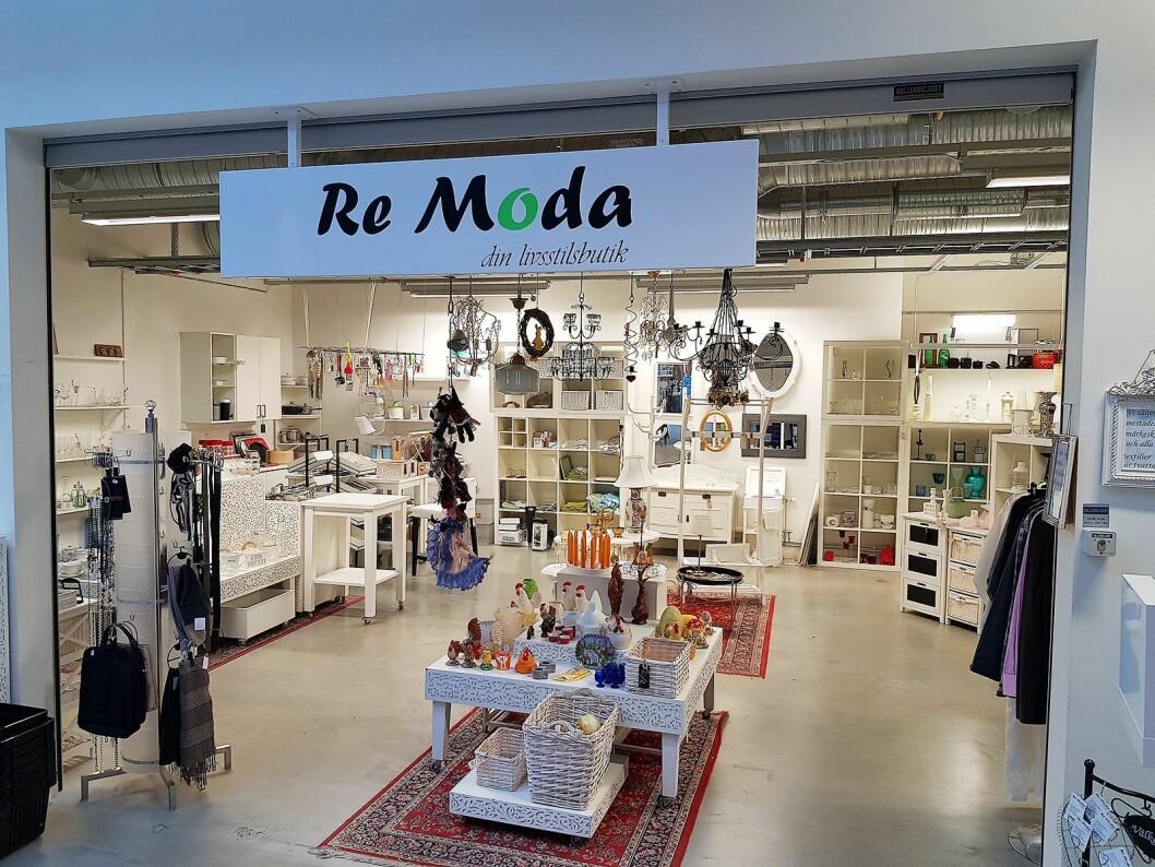 Remoda er butikken for interiør og møbler. Da vi var besøk hadde den påskefokus. Foto: Jan Røsholm.