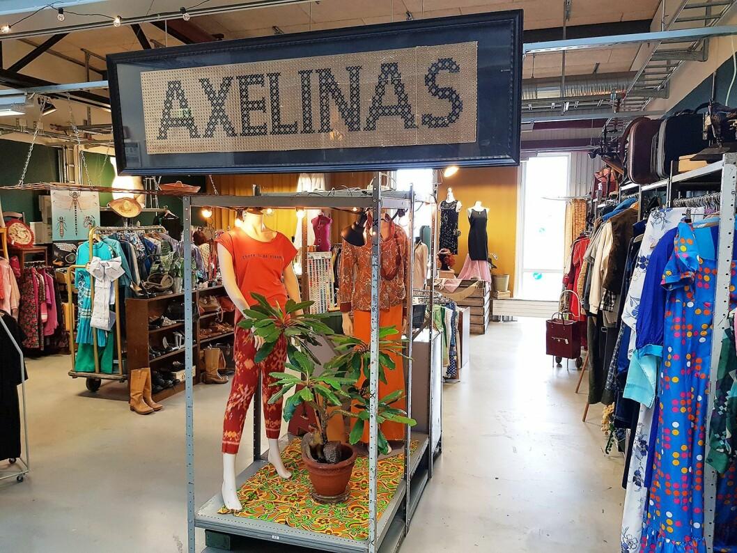 Axelinas har spesialisert seg på retro-klær, og har også egen nettbutikk. Foto: Jan Røsholm.