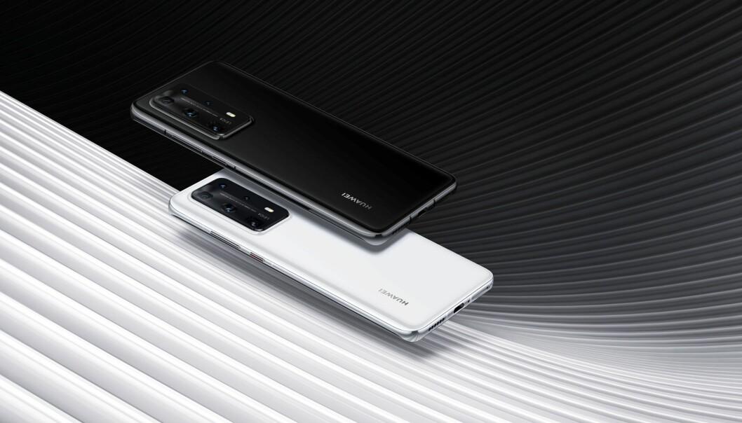 Huawei P40 Pro+ kommer i handelen i juni fargene White Ceramic og Black Ceramic. Foto: Huawei.