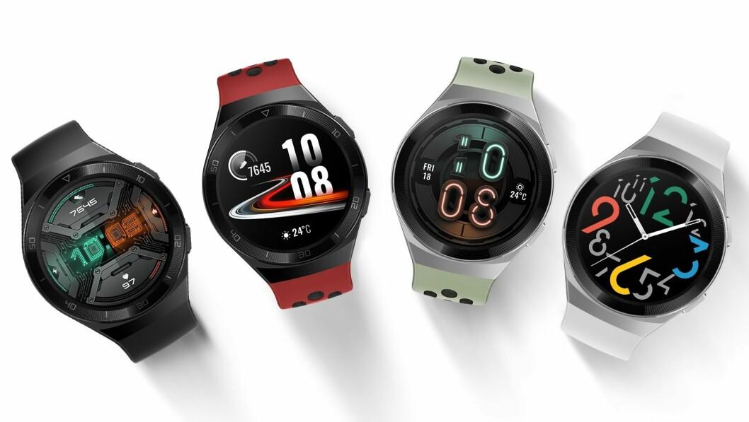 Smartklokken Huawei Watch GT 2e kommer i handelen etter påske til 200 euro. Foto: Huawei.