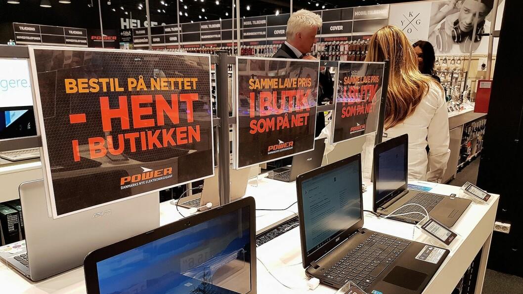 Kundene kan som før også bestille varene på nett og hente dem i butikk. Foto: Marte Ottemo