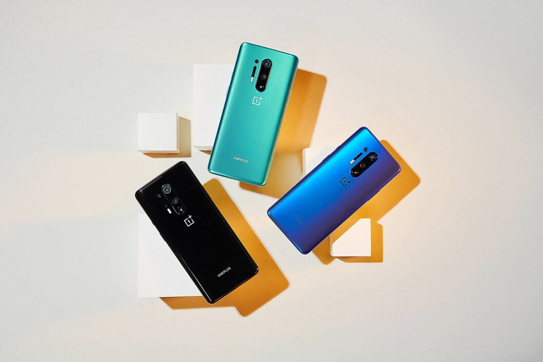 OnePlus 8 Pro kommer i tre ulike farger. Foto: OnePlus.