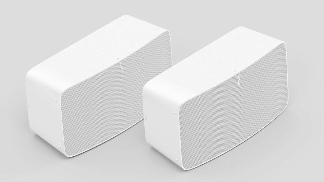 Sonos Five erstatter Play:5, og har fått mikrofon for stemmestyring samt større prosesseringskraft. Kommer i helhvitt og helsort. Pris: 5.800,- Foto: Sonos.