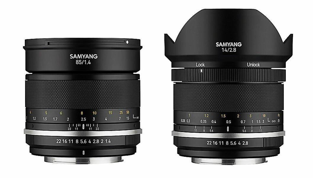 Samyang MF 85mm F1.4 MK2 og 14mm F2.8 MK2