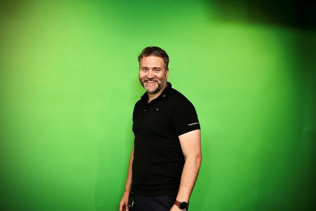 Opplæringssjef i Power, Morten Hovland, sier de snudde seg superraskt da det ble klart at PowerUp-messen ikke lot seg gjennomføre, og bygde TV-studio på ti dager. Foto: Power/ Snorre Berg-Domaas.