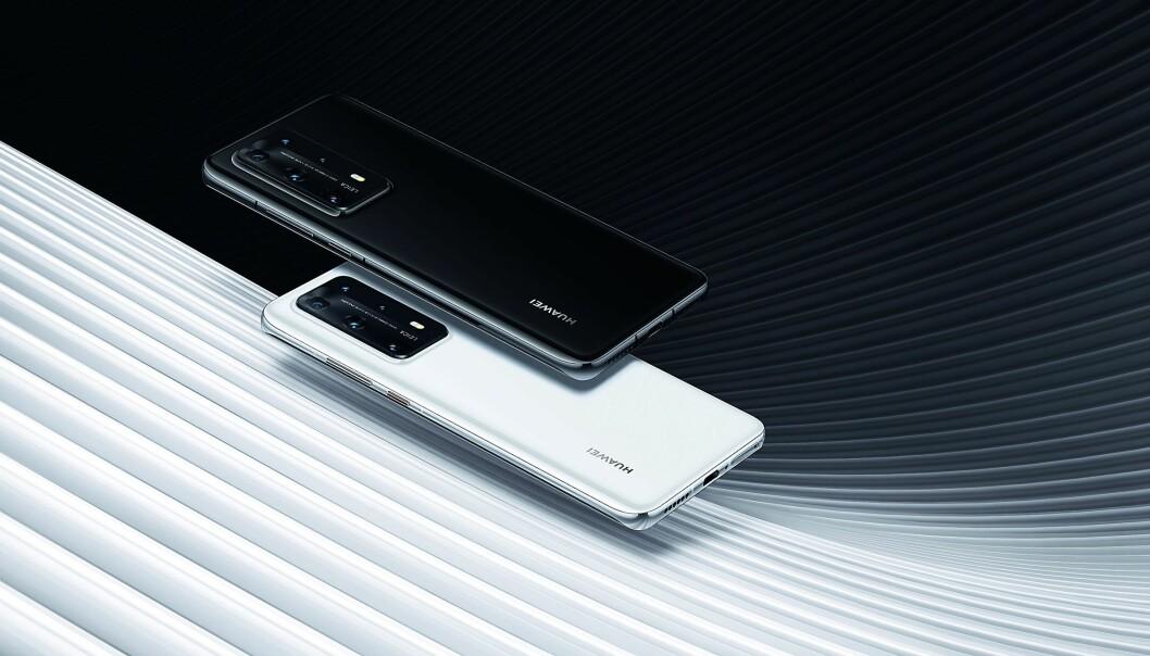 Huawei P40 Pro+ er toppmodellen fra Huawei, men det er fortsatt usikkert om det kommer til det norske markedet. Foto: Huawei.